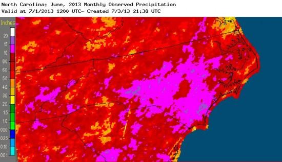June 2013 rainfall