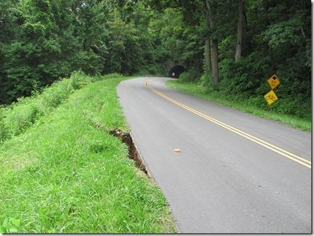 Parkway crack