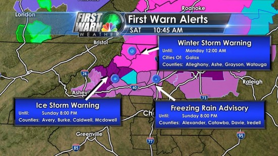 Ice Warnings Dec 7