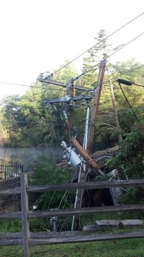 Aug 26, Blowing Rock broke pole