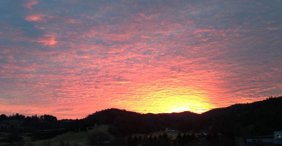 Dec 31_sunrise over Samaritan's Purse_Chad Cole