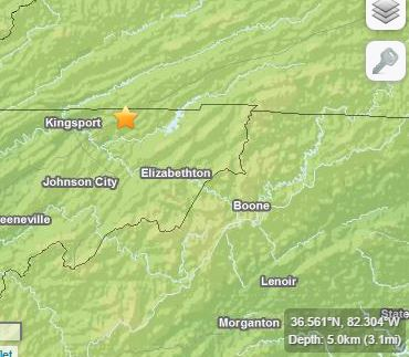 east TN earthquake Feb 1988