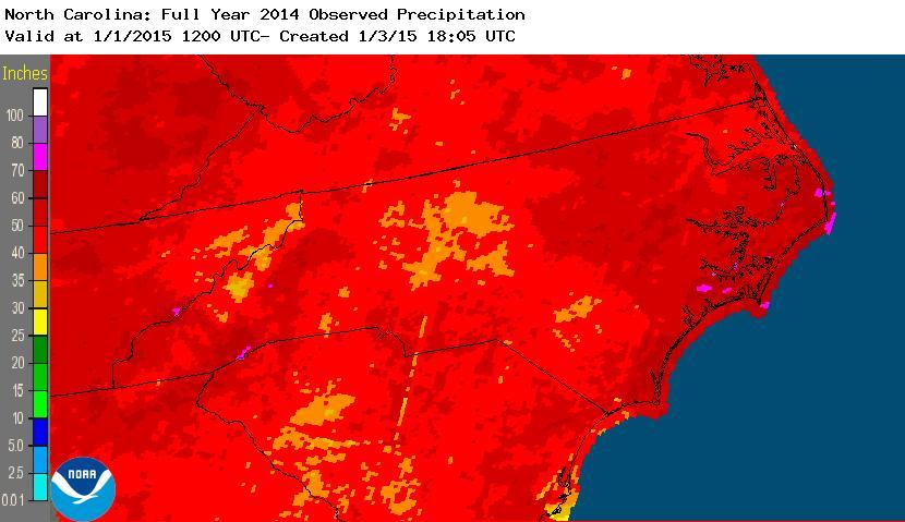 2014 Full Year precipitation