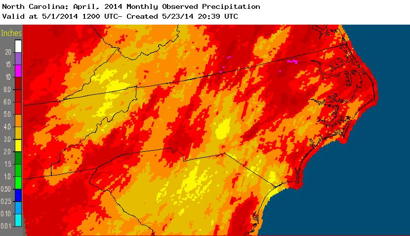April 2014 precipitation
