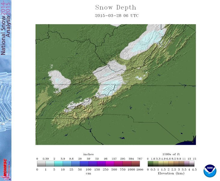 March 28 2015 snow depth