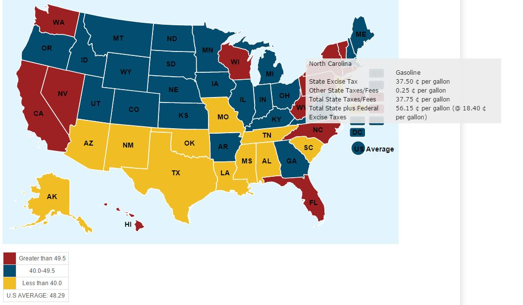 gas tax map