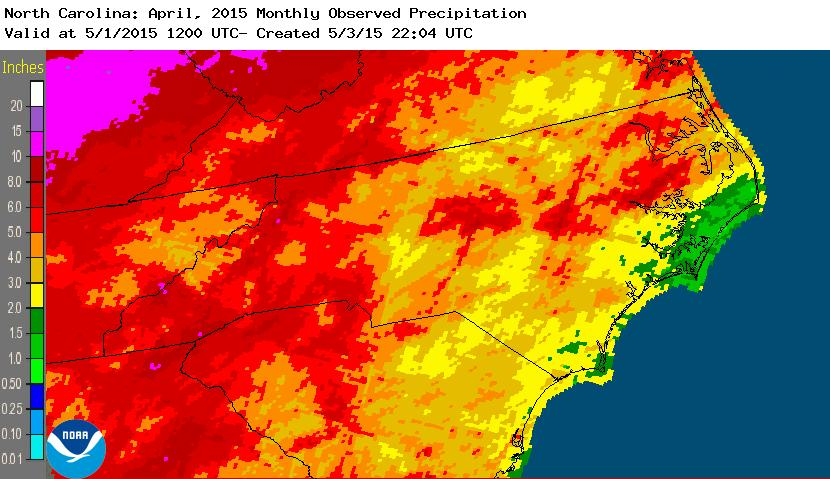 rainfall April 2015