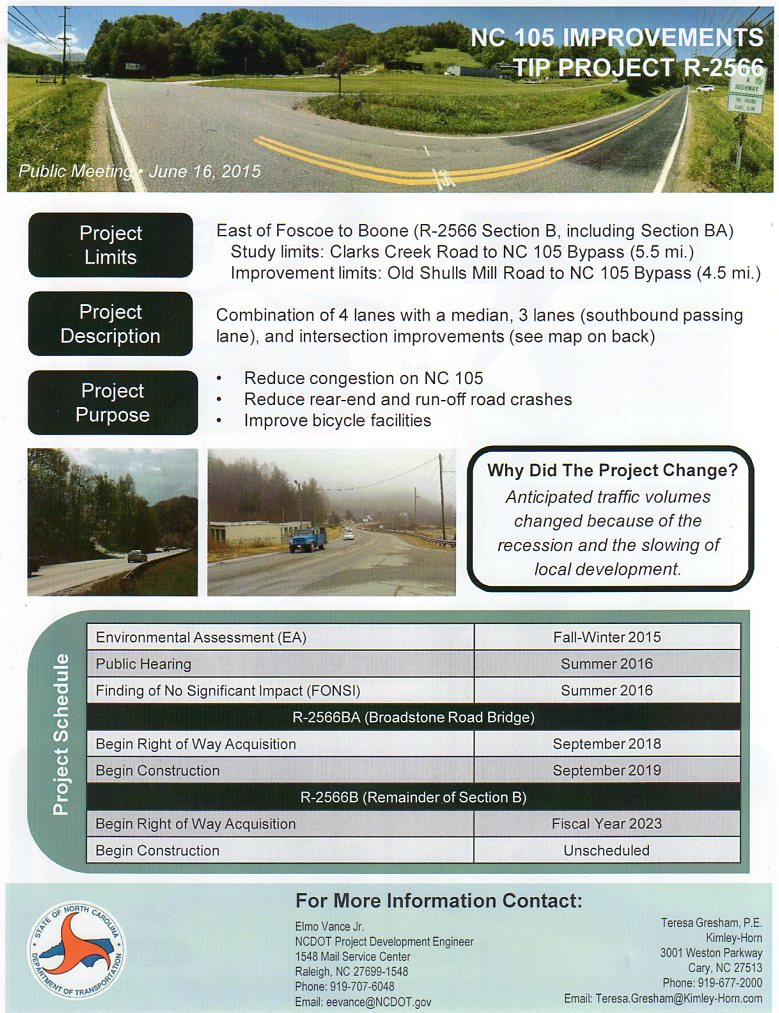 105 widening info sheet (1)