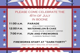 Boone July 4th 2015 Parade Route Information, Parade Route Direction Change