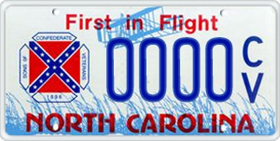 NC sons of confederate veterans license plate