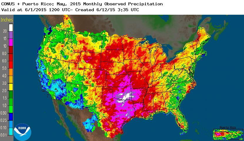 rainfall May 2015 nationwide