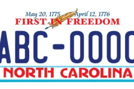 North Carolina Unveils Redesigned 'First In Freedom' License Plate