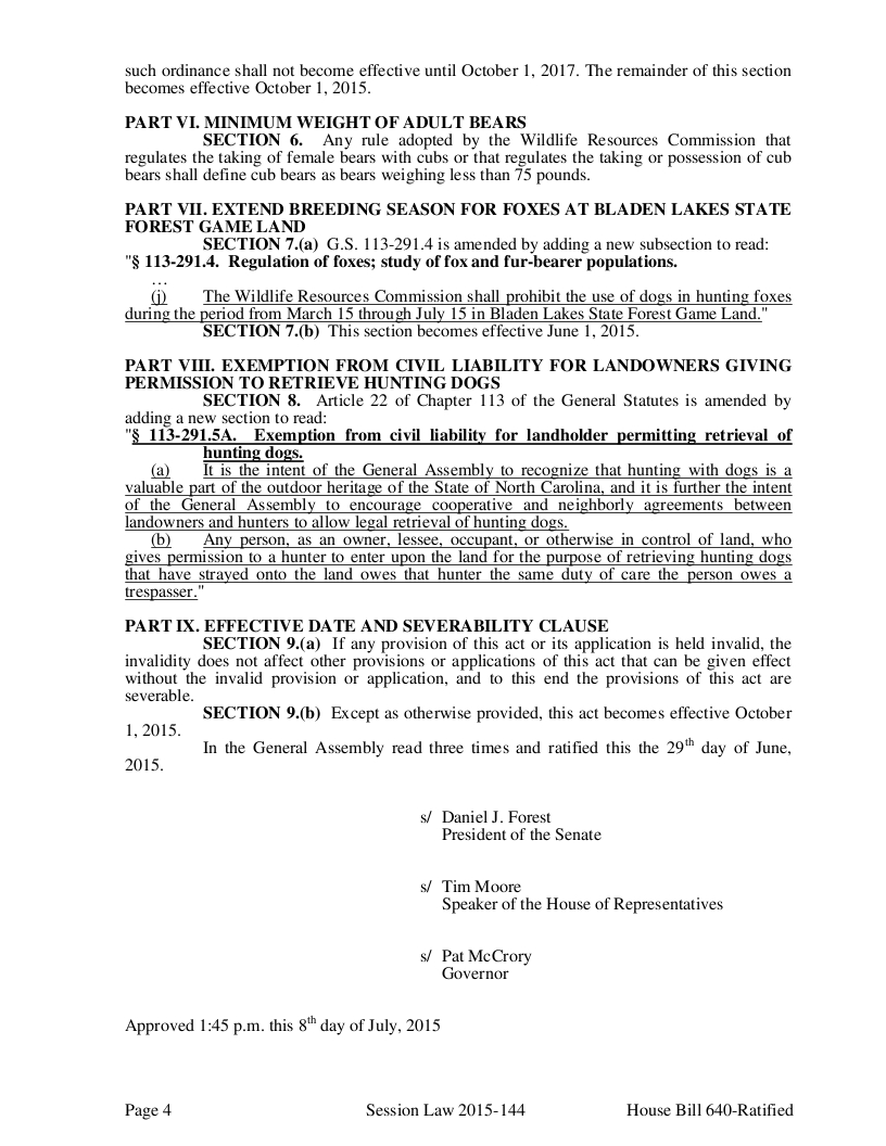 H640v7 Sunday Hunting signed into law_004