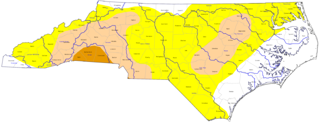 drought index for NC Aug 25
