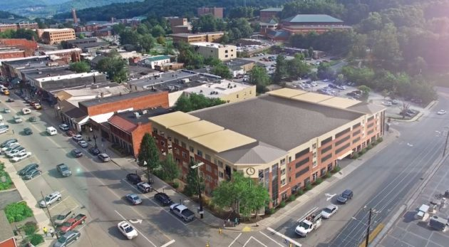 Marketplace Mixed Use Concept - Parking Deck Rendering
