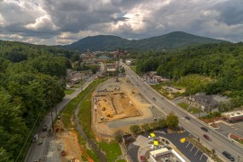 Aerial View Of 321/Blowing Rock Road Construction Of The Standard Apartment/Multi Use Facility