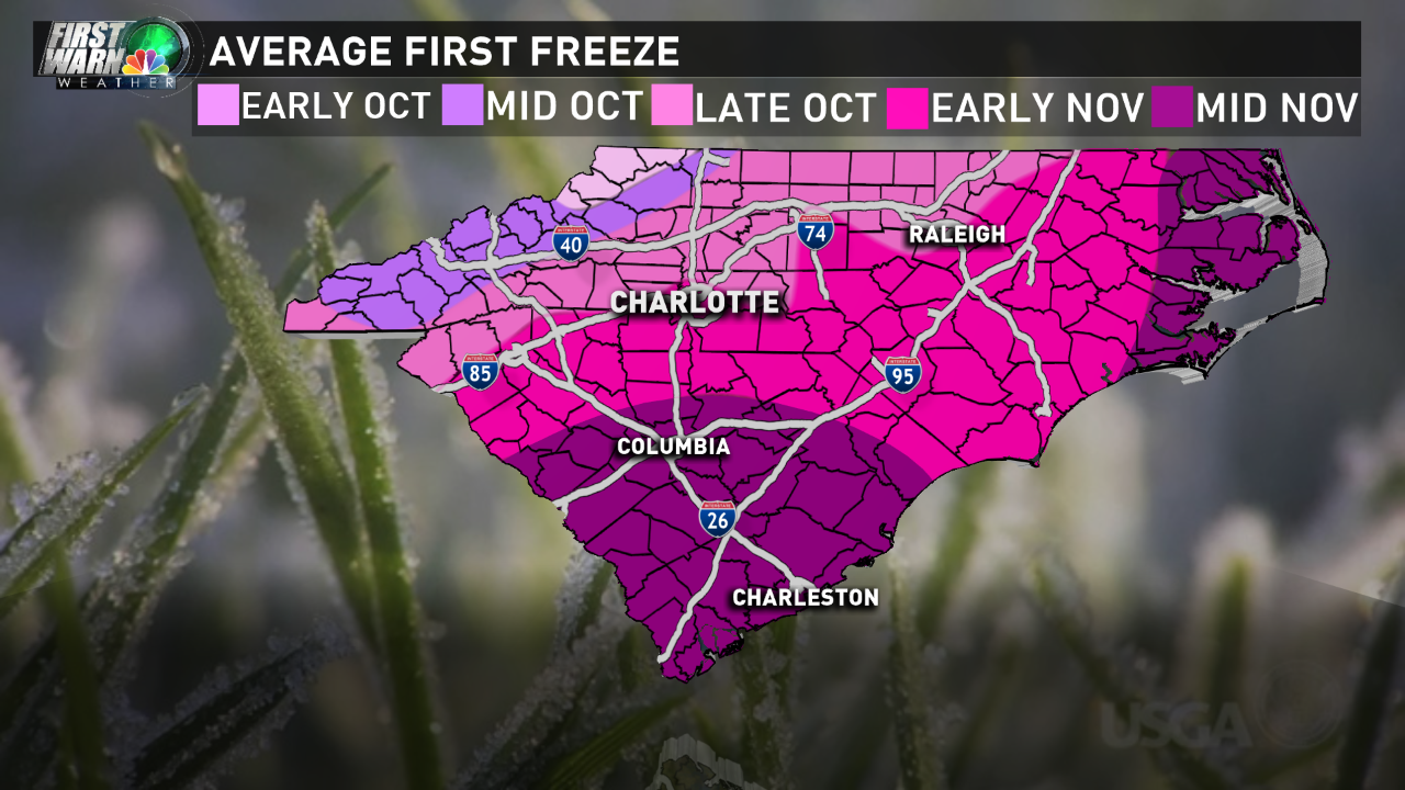 frost freeze WCNC graphic
