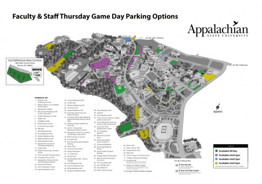 Faculty & Staff Thursday Game Day Parking Map (1)