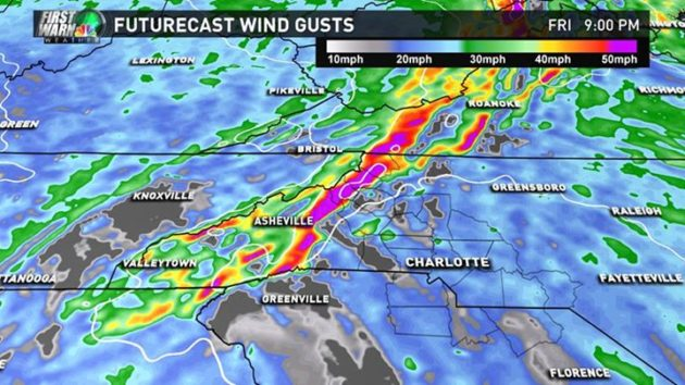 Nov 14 wind gusts forecast