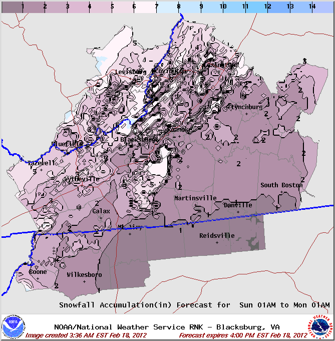 Heavy Snow Possible Starting Sunday