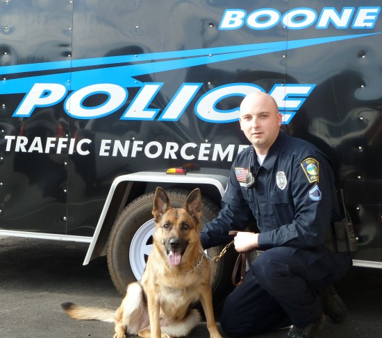 Boone Police New Canine Handler