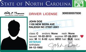 Veteran Drive License