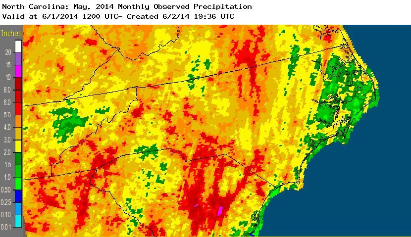 May 2014 rainfall