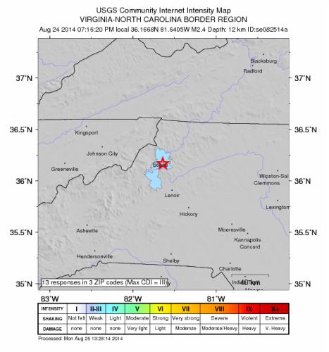 earthquake Aug 24
