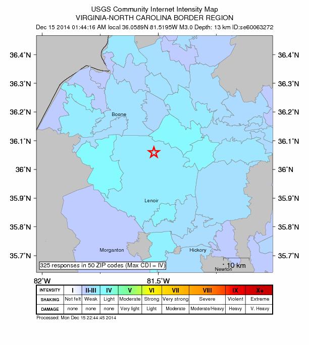 Dec 15 2014 quake
