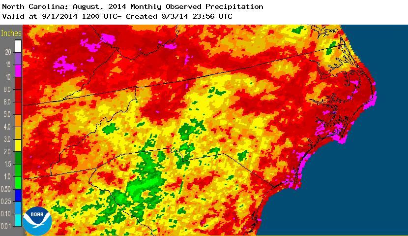 August 2014 precipitation