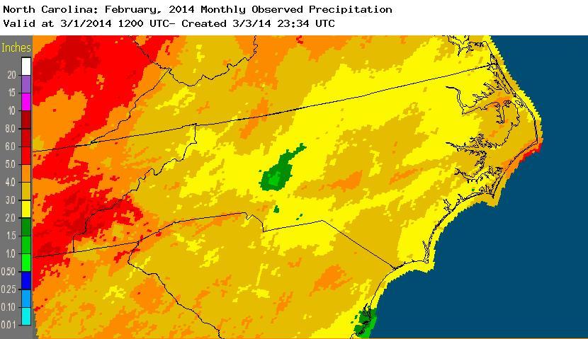 Feburary 2014 precipitation