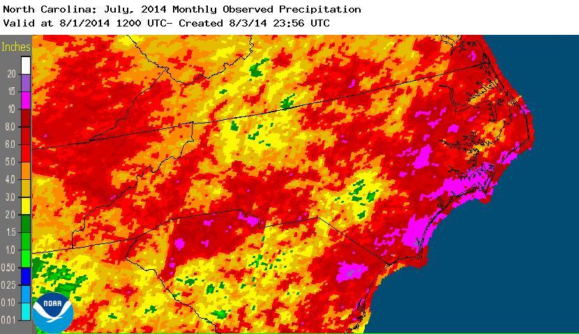 July 2014 precipitation