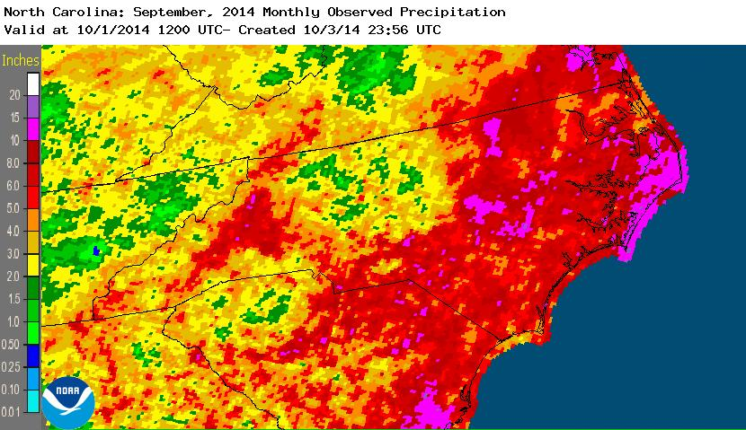 September 2014 precipitation