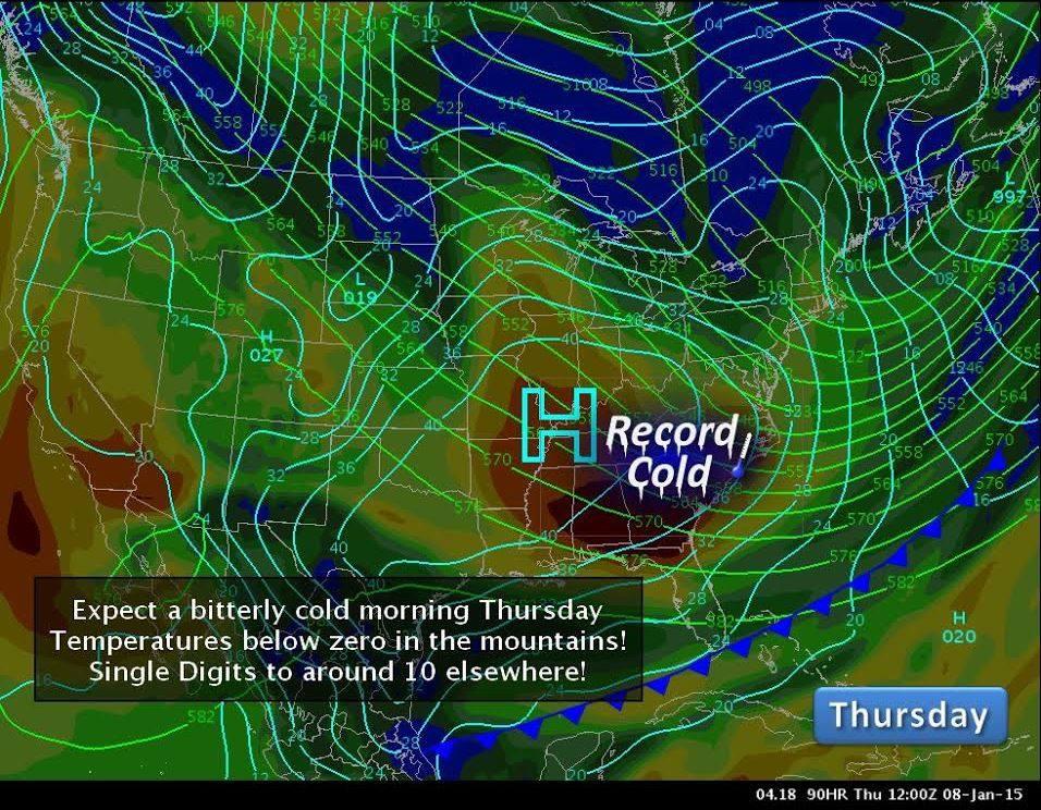 Thursday Jan 8 map