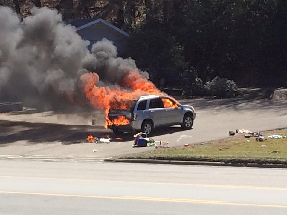 105 car fire March 21_ Terri Miller