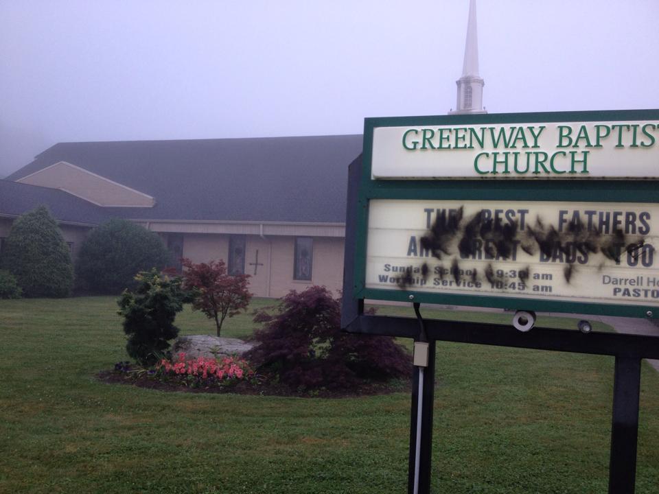 graffiti Greenway Baptist Church June 20_4