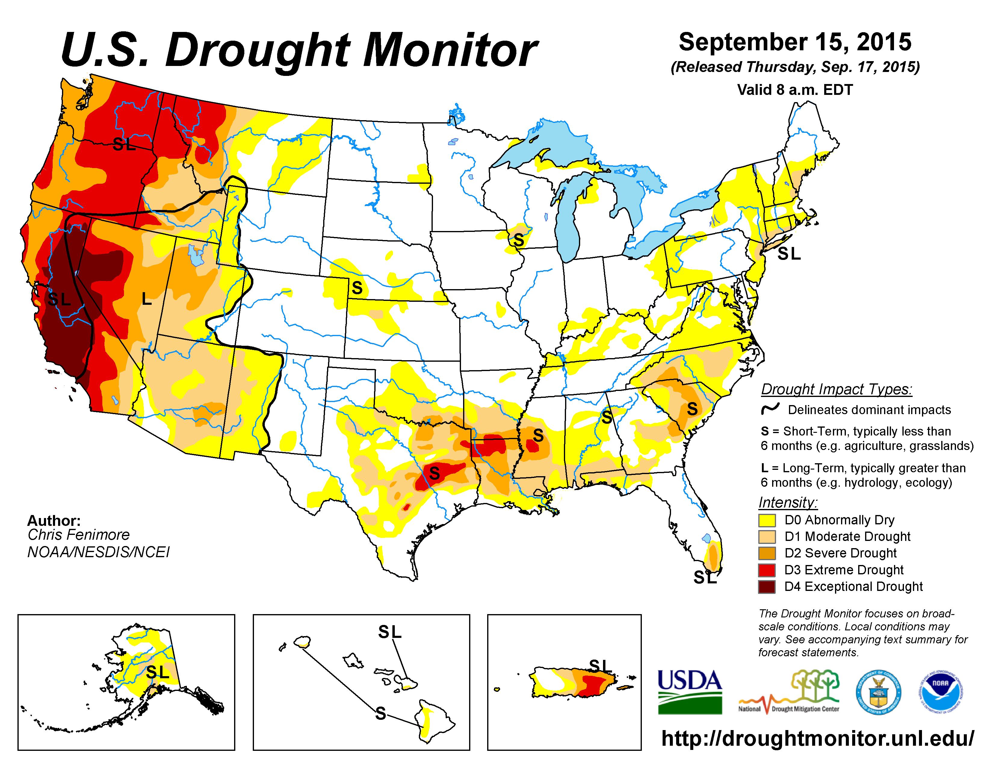 20150915_usdm nation wide drought Sept 15 2015